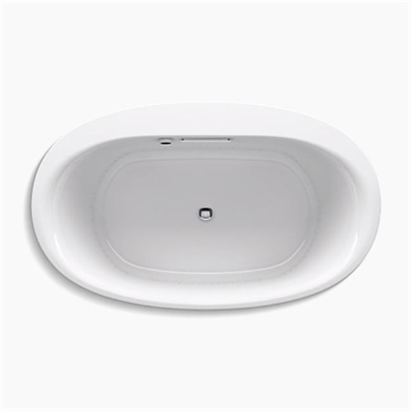 KOHLER 60-in x 36-in Oval Drop-in BubbleMassage Air bath