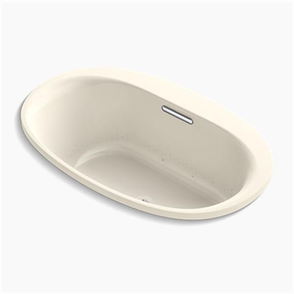 KOHLER 60-in x 36-in Oval Drop-in VibrAcoustic + BubbleMassage Air bath