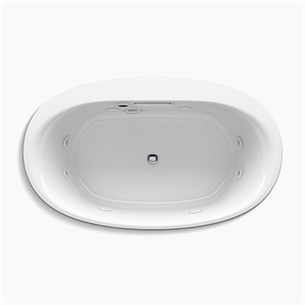 KOHLER 60-in x 36-in Oval Drop-in Whirlpool with Heater