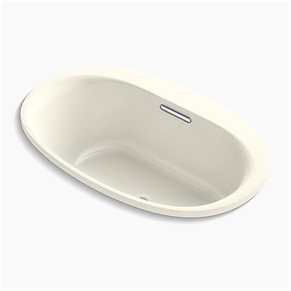 KOHLER 60-in x 36-in Oval Drop-in VibrAcoustic Bath