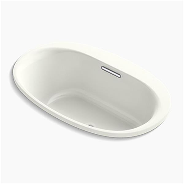 KOHLER 60-in x 36-in Oval Drop-in VibrAcoustic Bath