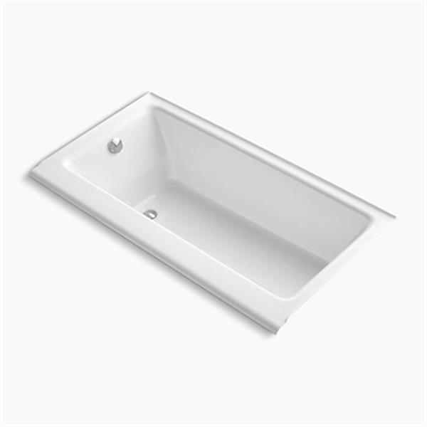 KOHLER 60-in x 32-in Alcove Bath with Enameled Apron