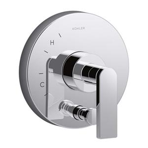 KOHLER Composed Polished Chrome Valve Trim with Diverter for Rite-Temp Pressure-Balancing Valve
