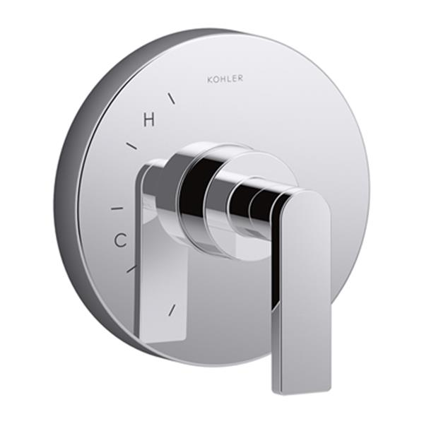 KOHLER Composed Polished Chrome Valve Trim with Cross Handle for Rite-Temp Pressure-Balancing Valve (Valve not Included)