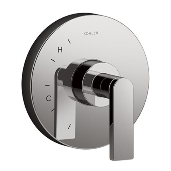 KOHLER Composed Titanium Valve Trim with Cross Handle for Rite-Temp Pressure-Balancing Valve (Valve not Included)