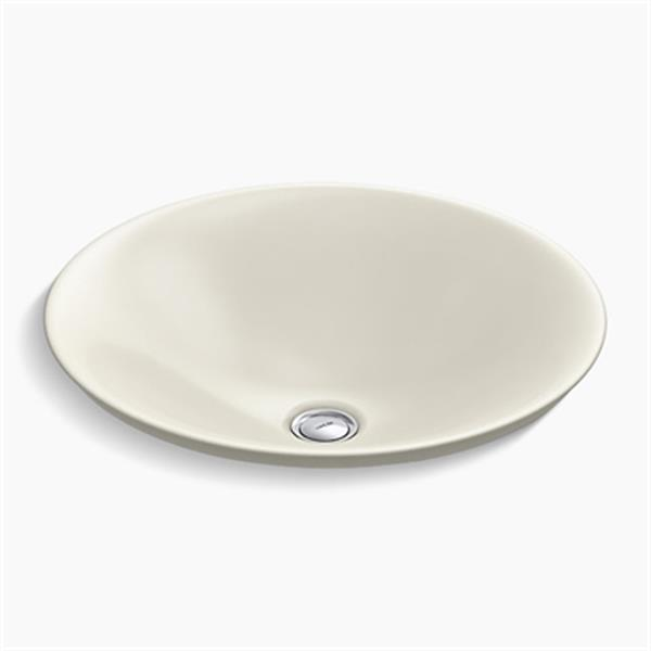 KOHLER Carillon 17.68-in Biscuit Wading Pool Round Above-Counter Bathroom Sink