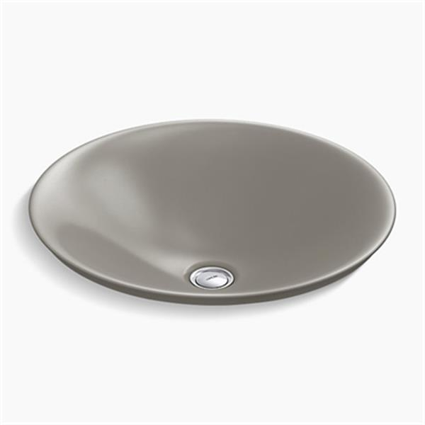 KOHLER Carillon 17.68-in Cashmere Wading Pool Round Above-Counter Bathroom Sink