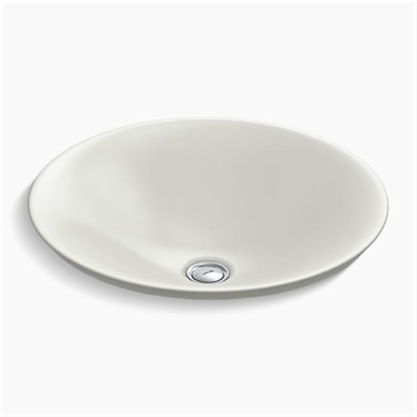 KOHLER Carillon 17.68-in Dune Wading Pool Round Above-Counter Bathroom Sink