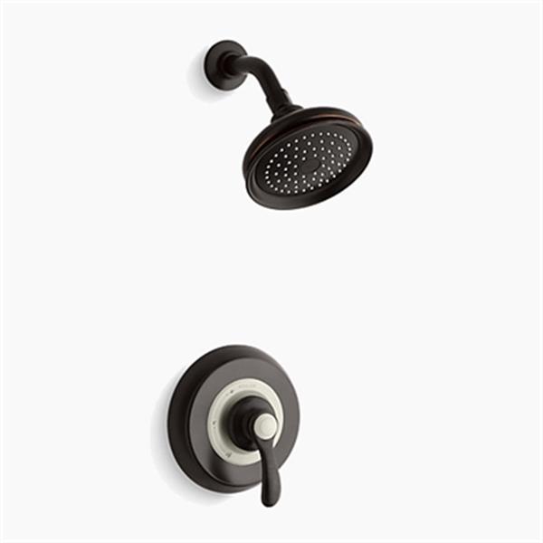 KOHLER Fairfax Oil-Rubbed Bronze Rite-Temp Pressure Balancing Shower Faucet Trim with Lever Handle