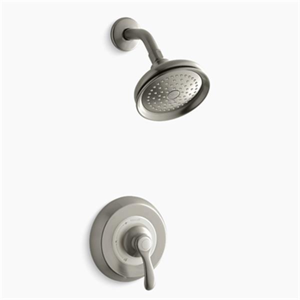KOHLER Fairfax Vibrant Brushed Nickel Rite-Temp Pressure Balancing Shower Faucet Trim with Lever Handle