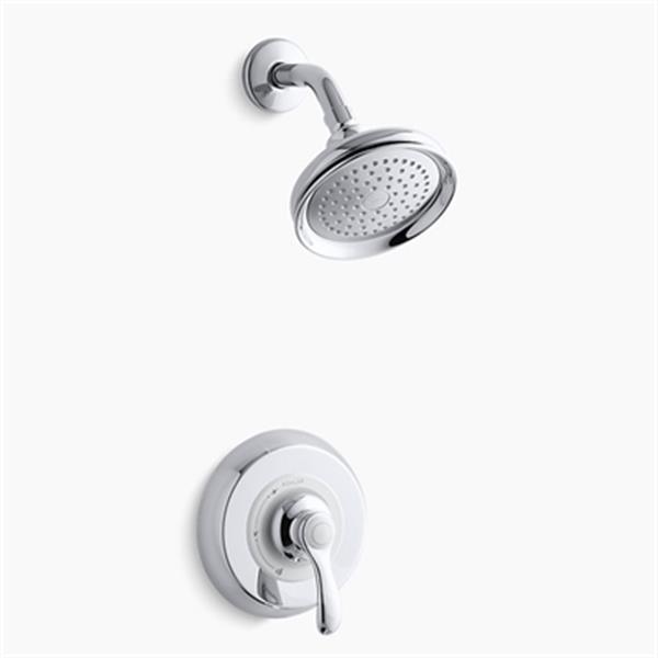 KOHLER Fairfax Polished Chrome Rite-Temp Pressure Balancing Shower Faucet Trim with Lever Handle