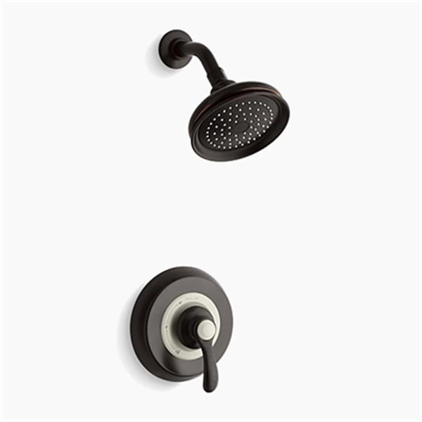 KOHLER Fairfax Oil-Rubbed Bronze Rite-Temp Pressure Balancing Shower Faucet Trim