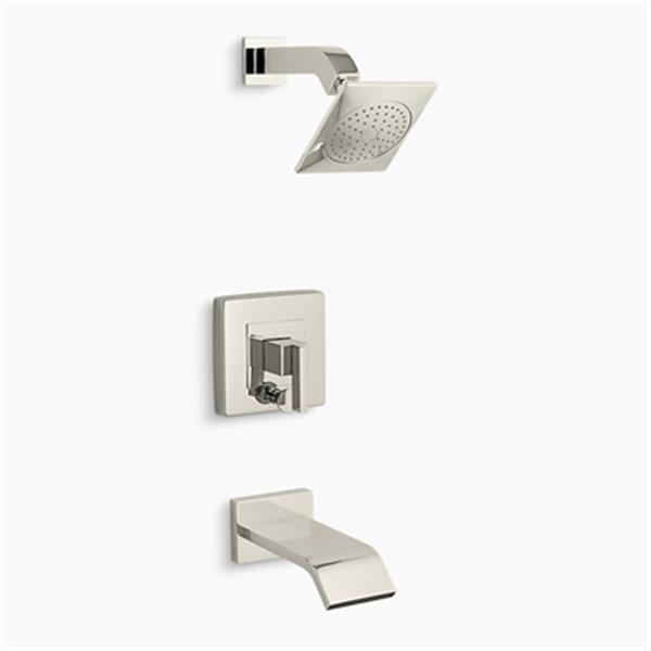 KOHLER Loure Vibrant Polished Nickel Rite-Temp Bath and Shower Valve Trim
