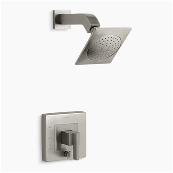 KOHLER Loure Vibrant Brushed Nickel Rite-Temp Shower Trim with Diverter