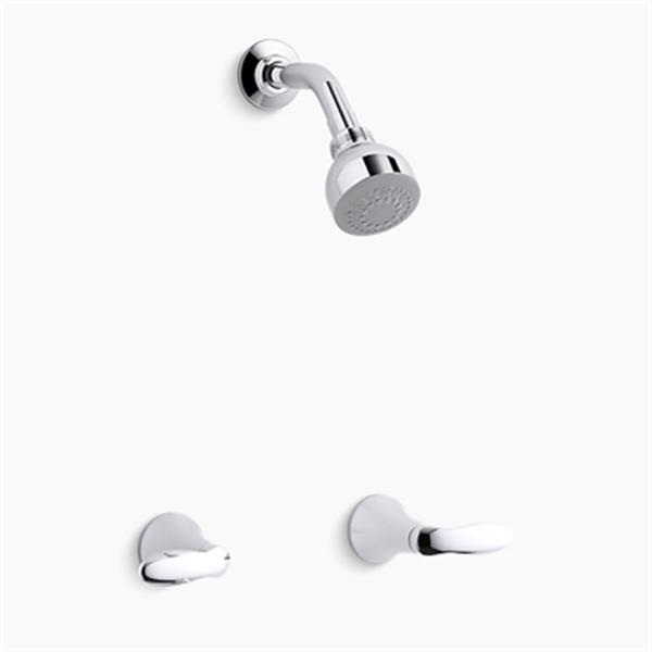KOHLER Coralais Polished Chrome Shower Faucet Trim Set with Lever Handles