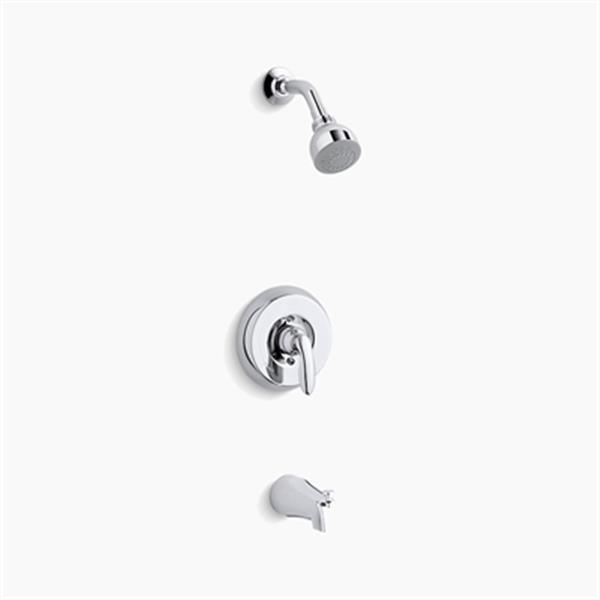 KOHLER Coralais Polished Chrome Bath and Shower Trim Set with 1.5 GPM Showerhead