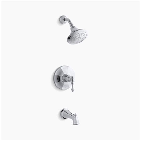 KOHLER Kelston Polished Chrome Rite-Temp Pressure Balancing Bath and Shower Faucet Trim