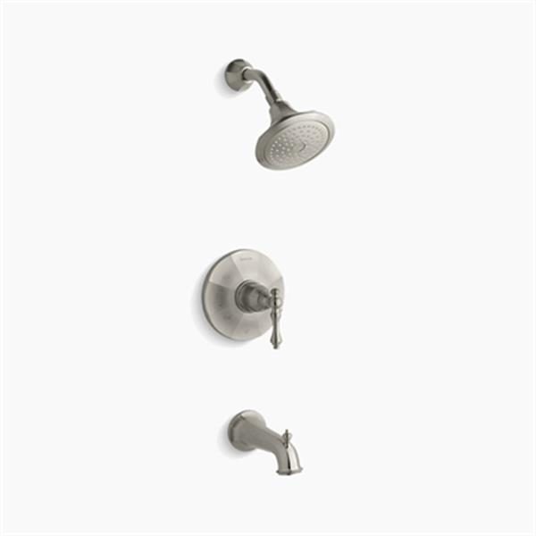 KOHLER Kelston Vibrant Brushed Nikel Rite-Temp Pressure Balancing Bath and Shower Faucet Trim