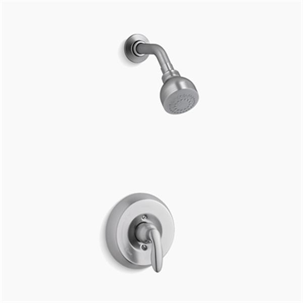 KOHLER Coralais Brushed Chrome Shower Trim Set with 1.75 GPM Showerhead