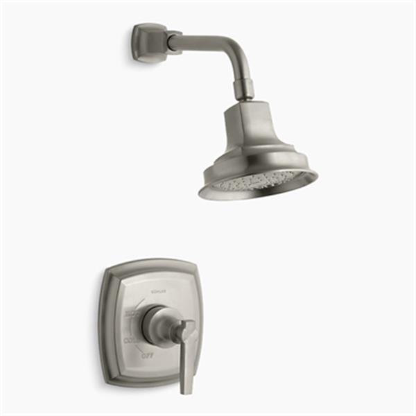KOHLER Margaux  Vibrant Brushed Nickel Rite-Temp Pressure-Balancing Shower Faucet Trim with Lever Handle