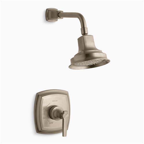 KOHLER Margaux  Vibrant Brushed Bronze Rite-Temp Pressure-Balancing Shower Faucet Trim with Lever Handle