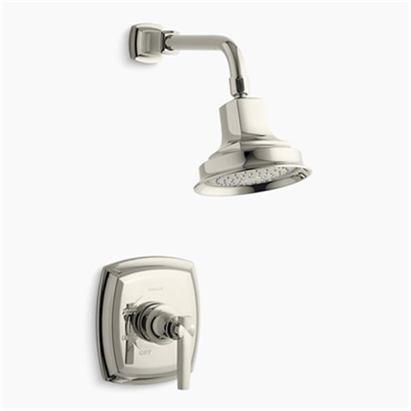 KOHLER Margaux Vibrant Polished Nickel Rite-Temp Pressure-Balancing Shower Faucet Trim with Lever Handle