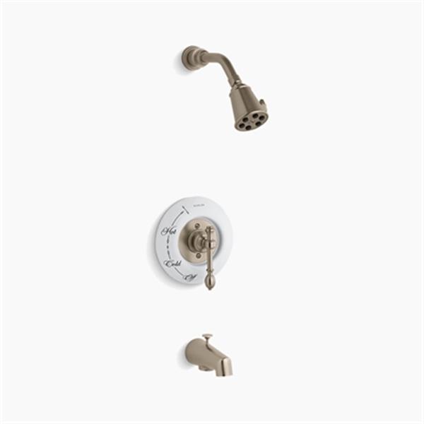 KOHLER IV Georges Brass Vibrant Brushed Bronze Rite-Temp Pressure-Balancing Bath/Shower Faucet Trim with Lever Handle