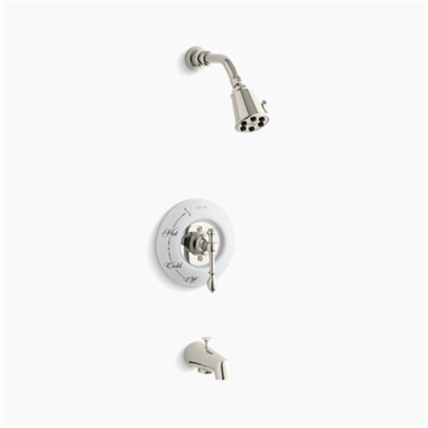 KOHLER IV Georges Brass Vibrant Polished Nickel Rite-Temp Pressure-Balancing Bath/Shower Faucet Trim with Lever Handle