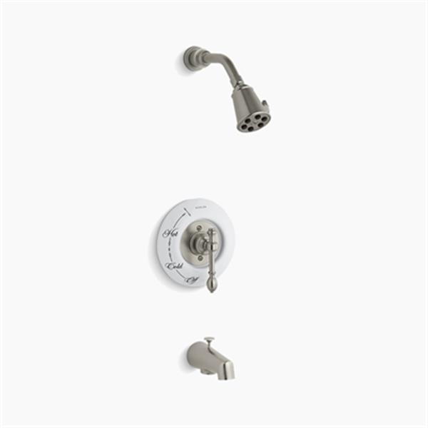 KOHLER IV Georges Brass Vibrant Brushed Nickel Rite-Temp Pressure-Balancing Shower Faucet Trim with Lever Handle