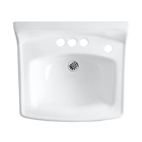 KOHLER Greenwich 20.75-in White Porcelain Rectangular Wall Mounted Sink