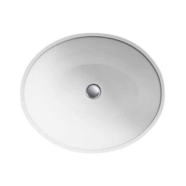 KOHLER Caxton 19.25-in White China Fire Clay Under Counter Sink