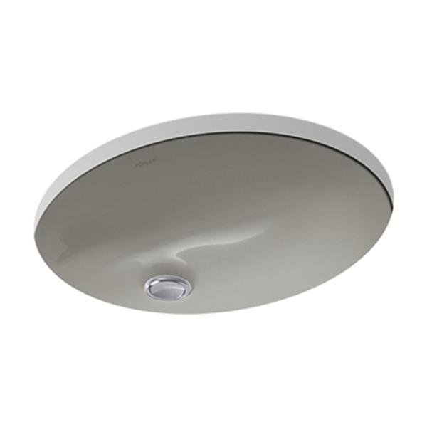 KOHLER Caxton 17-in Cashmere China Fire Clay Under Counter Sink
