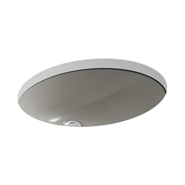 KOHLER Caxton 19.25-in Cashmere China Fire Clay Under Counter Sink