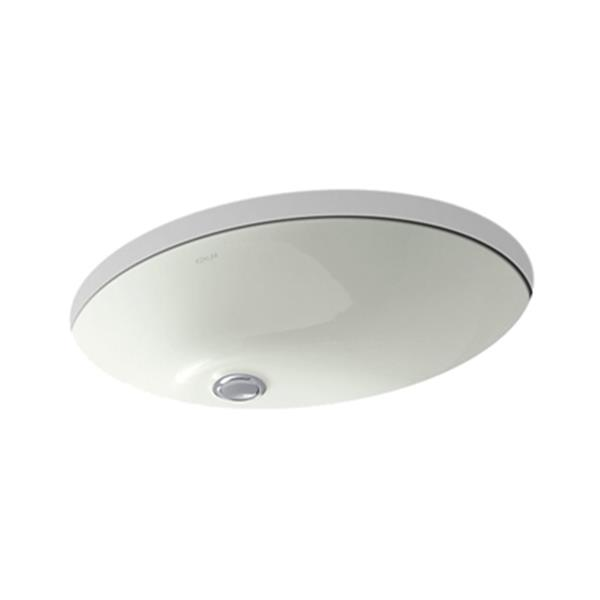 KOHLER Caxton 21.25-in Off White China Fire Clay Under Counter Sink