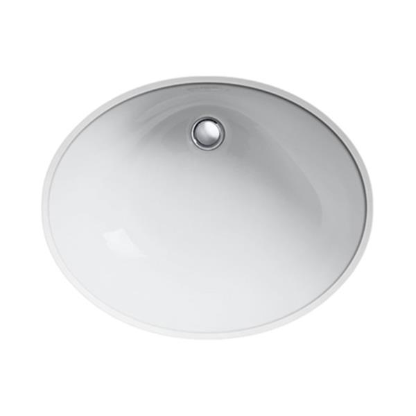 KOHLER Caxton 21.25-in White China Fire Clay Under Counter with Glazed Underside Sink