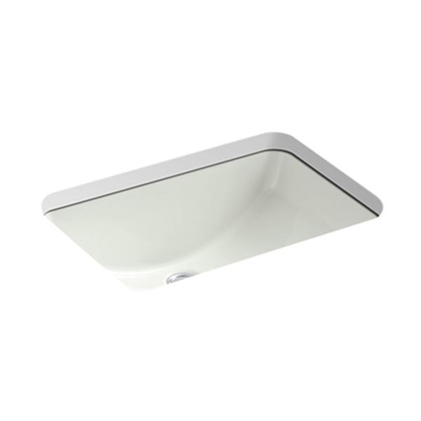 KOHLER Ladena 20.88-in Off White China Fire Clay Rectangular Under Counter Sink