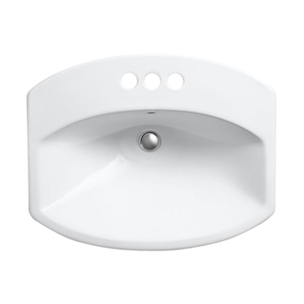 KOHLER Cimmarron 23-in White China Fire Clay Self Rimming Sink