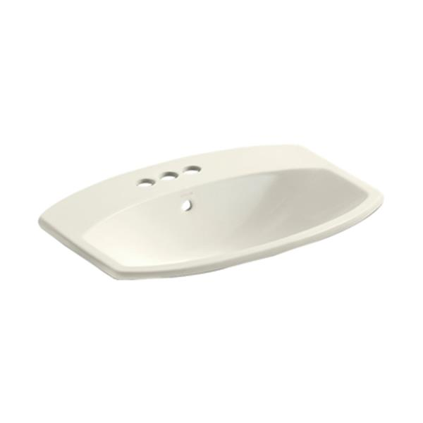 KOHLER Cimmarron 23-in Biscuit China Fire Clay Self Rimming Sink