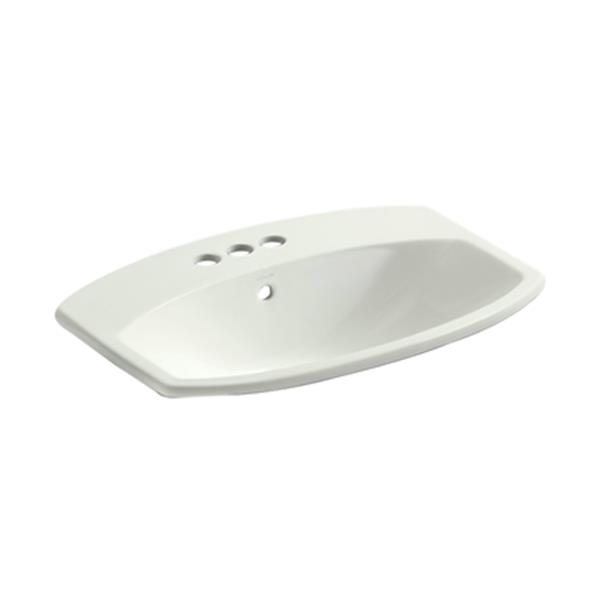KOHLER Cimmarron 23-in Off White China Fire Clay Self Rimming Sink