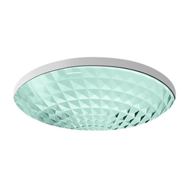 KOHLER Kallos 16-in Translucent Dew Spun Glass Under Counter Sink