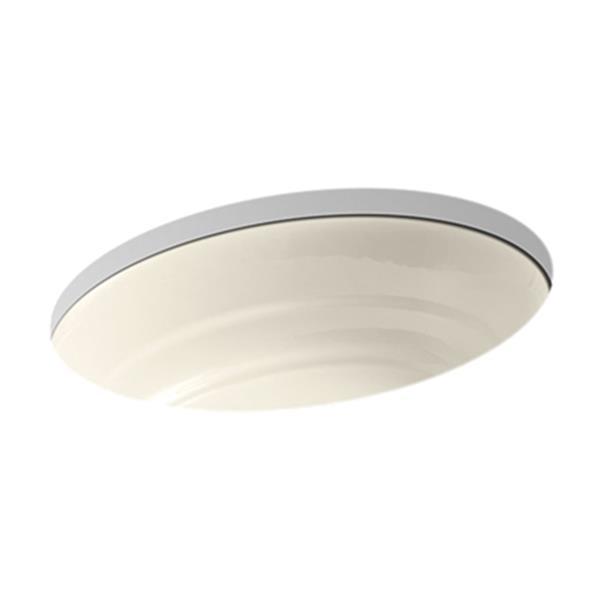 KOHLER Garamond 21.06-in Almond Under Counter Sink