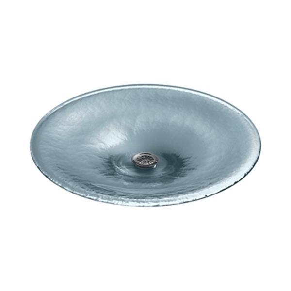 KOHLER Lavinia 19-in Translucent Dusk Round Glass Sink