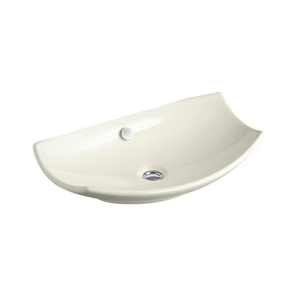 KOHLER Leaf 23.02-in Biscuit China Fire Clay Vessel Sink