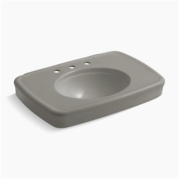 KOHLER Bancroft 30.38-in x 8.69-in Cashmere Porcelain Sink with Faucet Hole