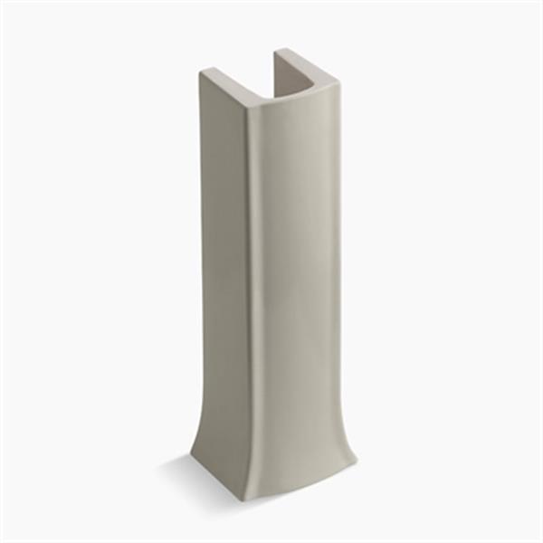 KOHLER Archer 27.75-in Sandbar Pedestal Sink