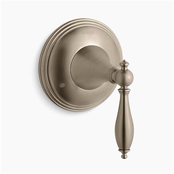 KOHLER Finial Vibrant Brushed Bronze Traditional transfer Valve Trim with Lever Handle (Valve Not Included)