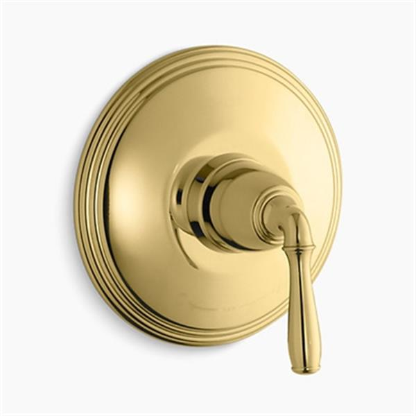 KOHLER Devonshire Vibrant Polished Brass Thermostatic Trim
