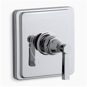 KOHLER Pinstripe Polished Chrome Pure Rite-Temp Pressure-Balancing Valve Trim