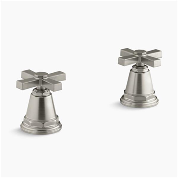 KOHLER Pinstripe Vibrant Brushed Nickel Pure Bath- or Deck-Mount High-Flow Bath Valve Trim