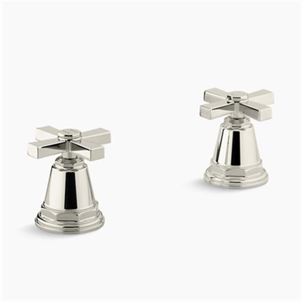 KOHLER Pinstripe Vibrant Polished Nickel Pure Bath- or Deck-Mount High-Flow Bath Valve Trim